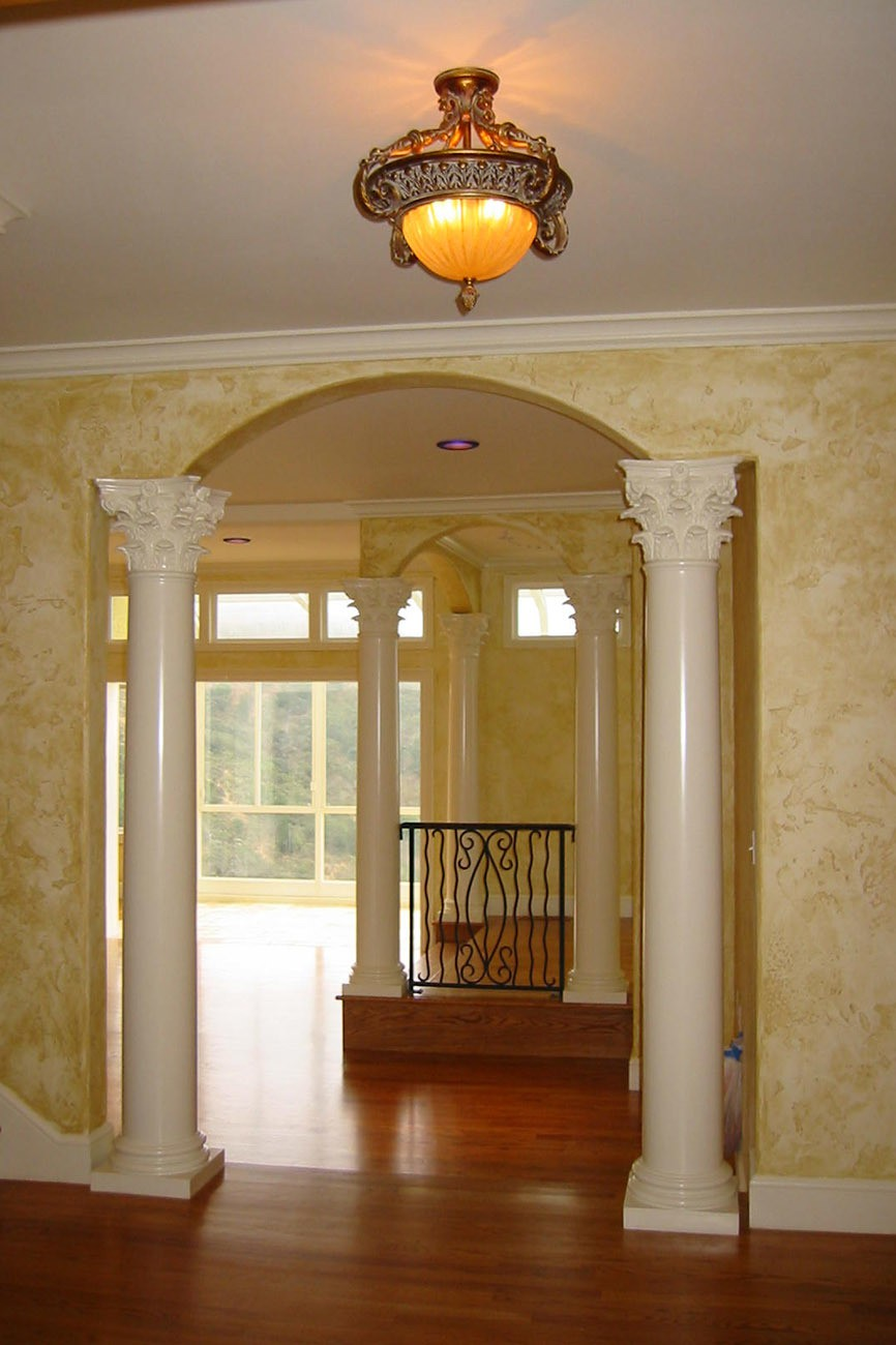 New Faux Finishes, Columns, Hardwood Floors, Crown Molding, and trim through out house