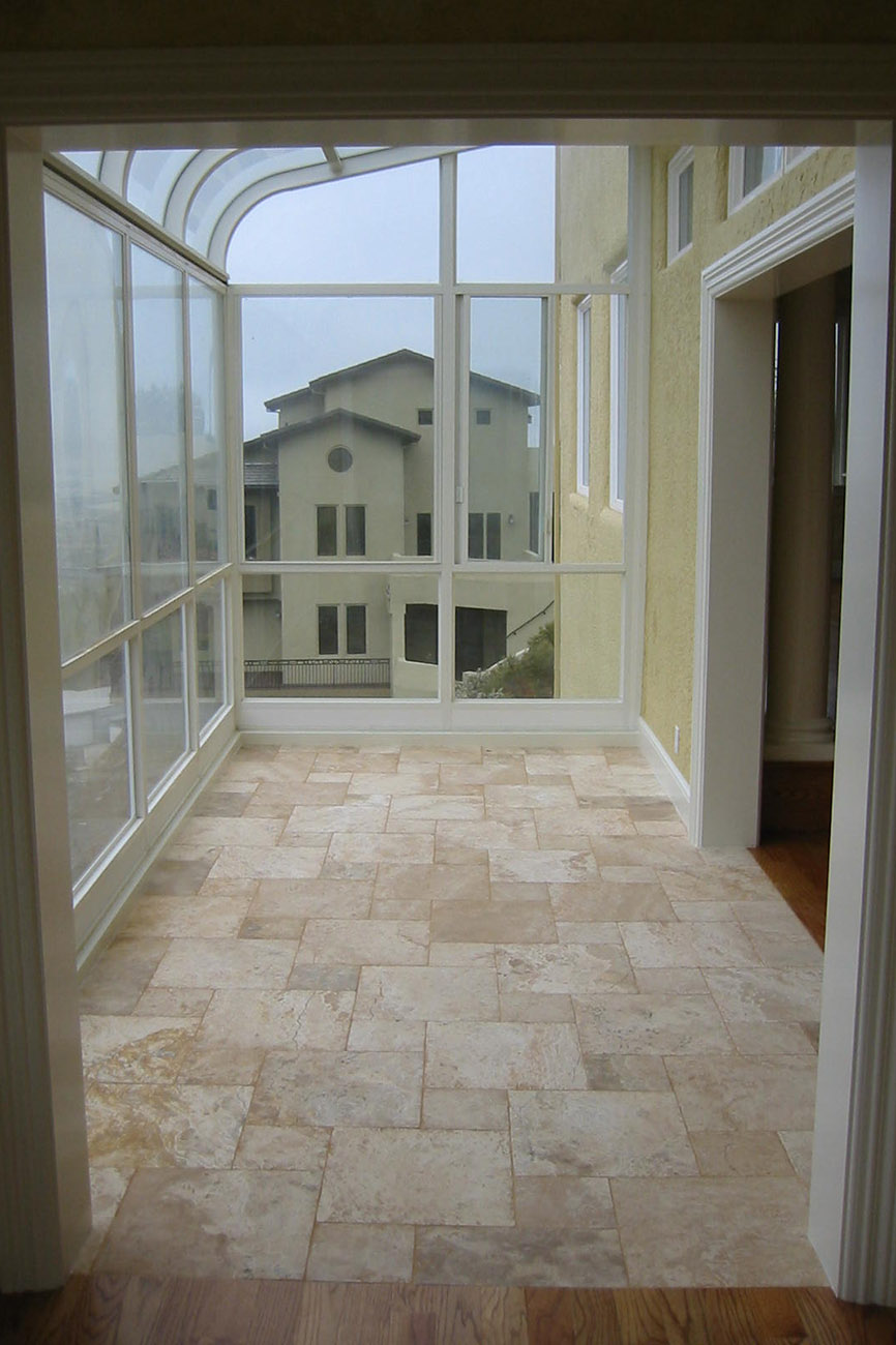 New Sun Room and Limestone Tile