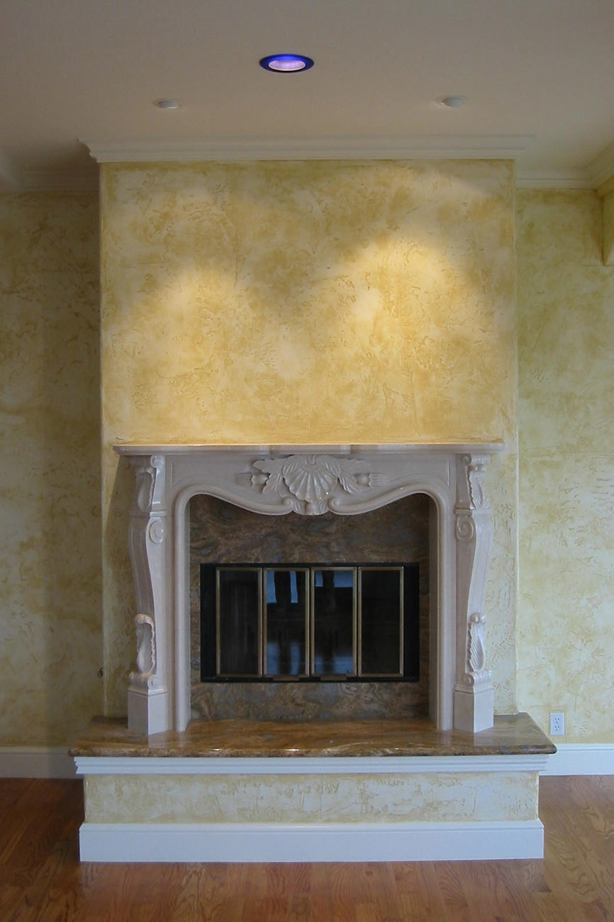 New Marble Fireplace Mantel and Hearth