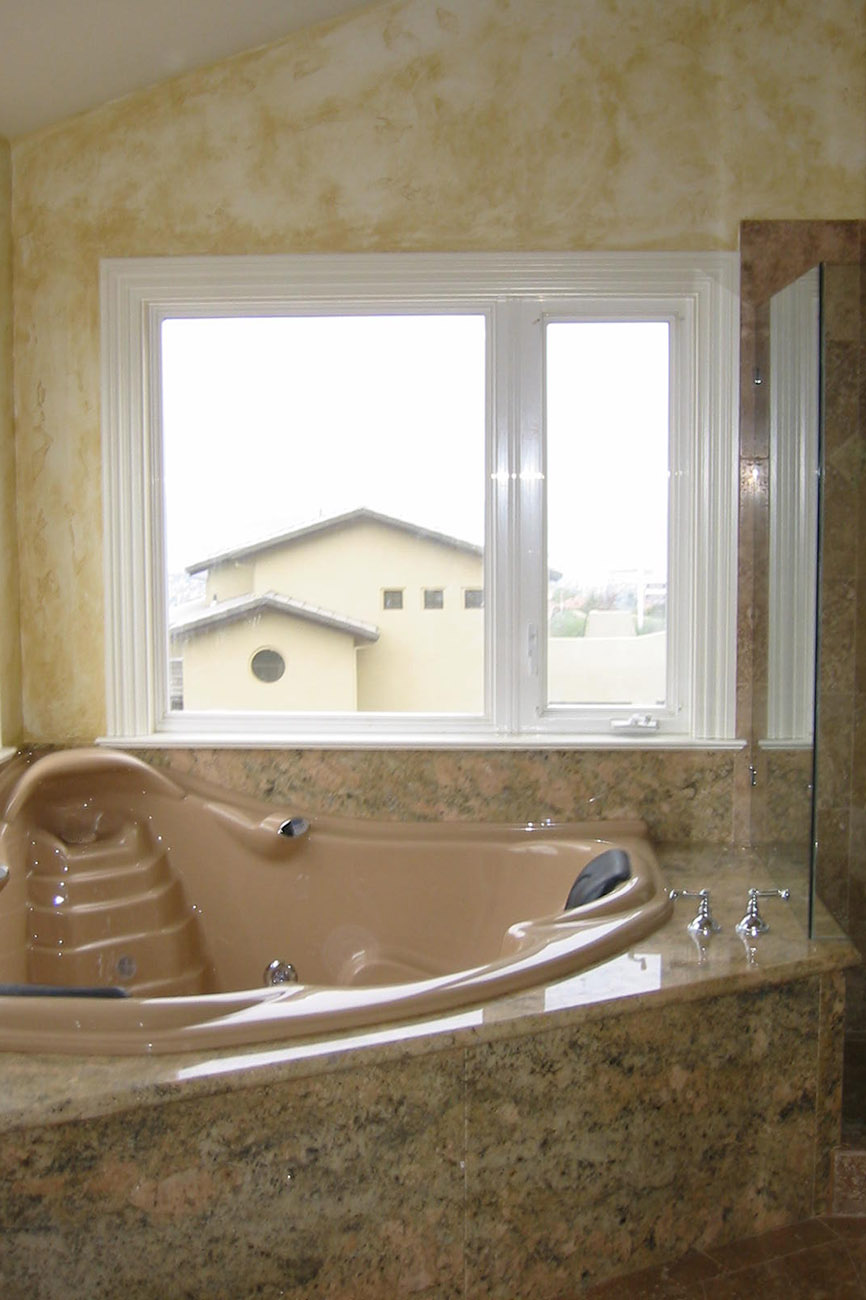 New Bathroom with Jacuzzi and Marble