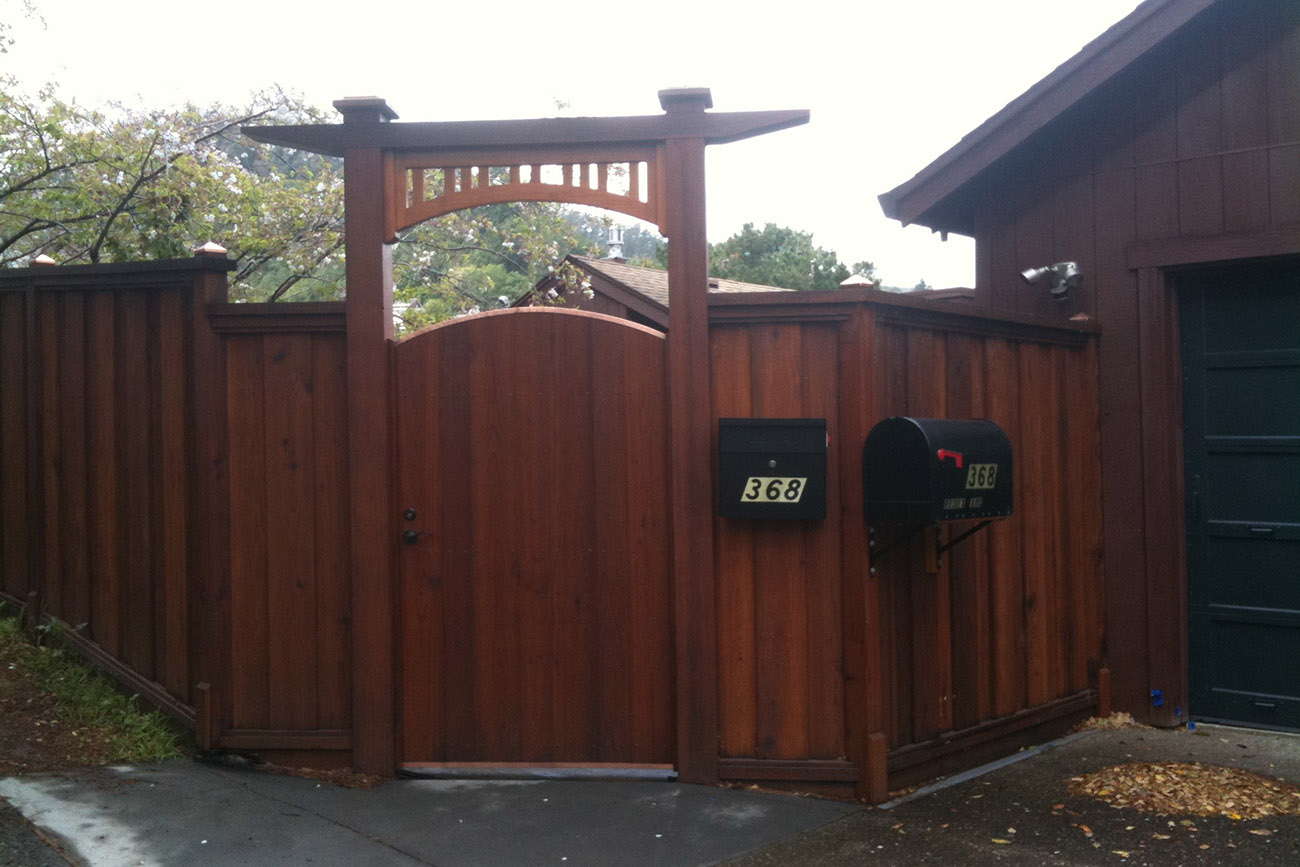 Redwood Fence and Gate