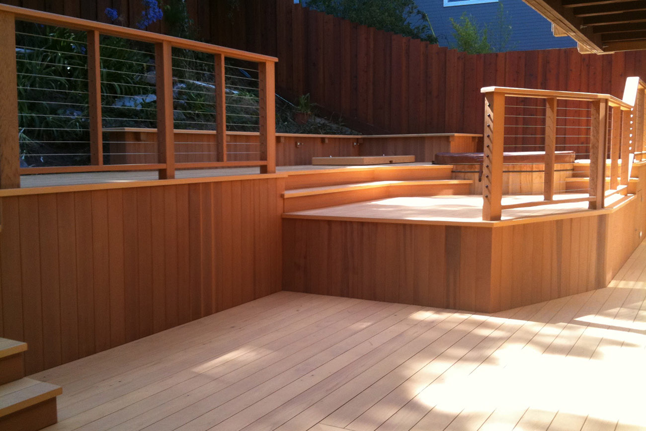 Clear Red Cedar Deck