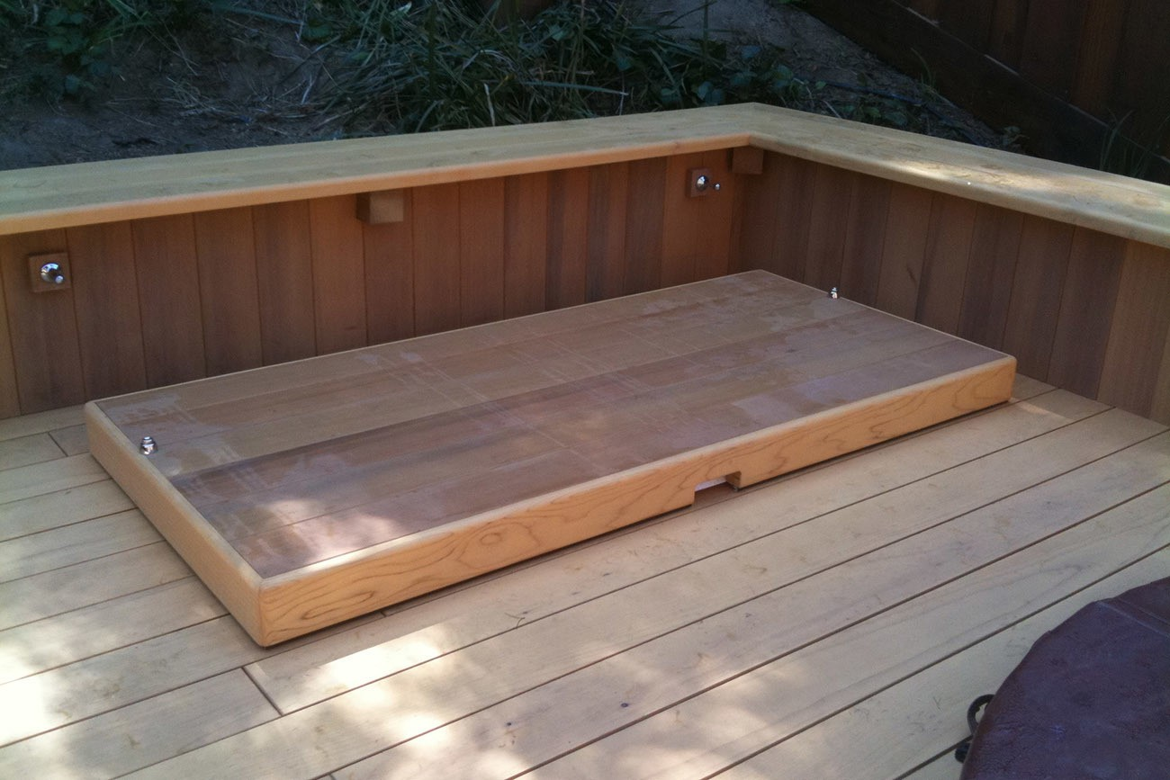 Recessed Cold Plunge Tub with Cover