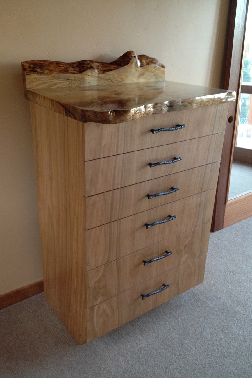 Custom Furniture - Red Birch with Stone Pine top