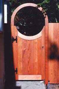 Custom Redwood Gate